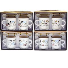 US $15.20 -- 2pcs Gift box packing 200ml~300ml Ceramic Moomin coffee cup with spoon Cartoon coffee mug Moomin 4 designs random aliexpress.com