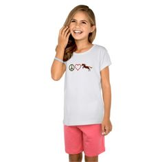 peace love #ponies jumping #horse tee by #TheCutieCollection