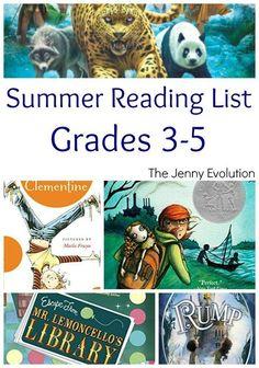Summer Reading Book List for Elementary Grade 3, Grade 4 and Grade 5 | The Jenny Evolution