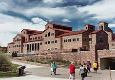 University of Colorado at Boulder Buffaloes  - Center for Community -  the dynamic student center features centralized key student services and programs on the upper floors including Career Services, International Education, and Counseling and Psychological Services, among others.     The center is home to the largest dining center on campus with the capacity to serve 900 people and the flexibility to host special events and meetings with an underground parking garage to support access.