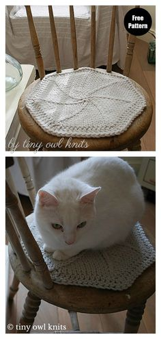 Chair Pad Free Knitting Pattern and Paid Fairy Star Chair Pad Free Knitting Pattern Knit Or Crochet, Lace Knitting, Knitting Patterns, Crochet Patterns, Knit Lace, Knitting Ideas, Sick Cat, Patterned Chair, Chair Pads