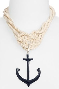 9 Statement Necklaces to Spice Up Your Wardrobe: 5) Spring Street Design Group Anchor Rope Necklace