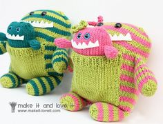 Darling Momma and Poppa monsters. Aubrey would LOVE these!