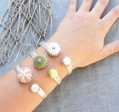 Sea Urchin & Pearl Cuff Collection. Fabulous!