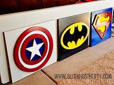 Superhero wall art tutorial.