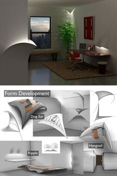 Designer Billy May has come up with his Torn Lighting concept as a discreet way of adding some light to your apartment. The installations conceal LED lights, and look like you've got some kind of weird space-time holes torn into your walls and leaking light into your room. I love the way the the light shines on the tree. it's like a sun ray that peeks through the clouds.