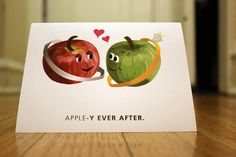 Appley Ever After by GrowChangeGreetings on Etsy, $3.00