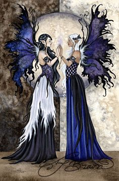 11x14 Art Print - The Two Sisters by Amy Brown, Amy Brown, Fantasy Art Trading's Online Store