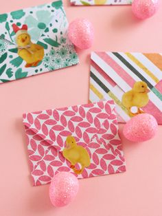 EASTER GREETINGS WITH DIY ENVELOPES & EGG-SHAPED CARDS
