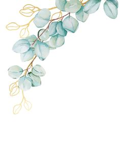 Shop Eucalyptus and Gold Botanicals Wedding Details Enclosure Card created by Laurellanepaperie. Framed Wallpaper, Flower Background Wallpaper, Flower Backgrounds, Wallpaper Backgrounds, Watercolor Flowers, Watercolor Art, Molduras Vintage, Floral Artwork, Floral Border