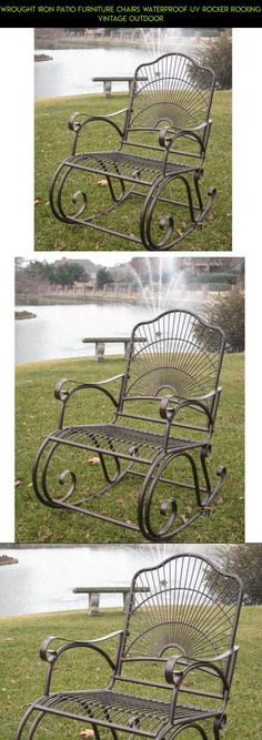 Wrought Iron Patio Furniture Chairs Waterproof UV Rocker Rocking Vintage Outdoor #gadgets #plans #shopping #parts #camera #iron #fpv #furniture #tech #technology #products #racing #kit #drone #patio