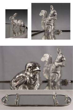 Silver Table Top with Salt and Pepper Shakers
