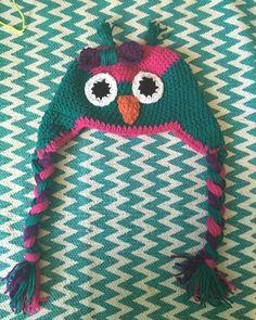 Girls owl hat by CraftyDiva23 on Etsy