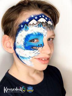 Snow monster face paint