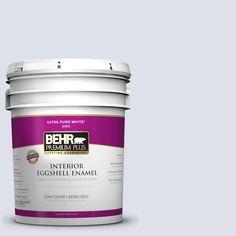 BEHR Premium Plus 5-gal. #640E-2 Lilac Champagne Zero VOC Eggshell Enamel Interior Paint