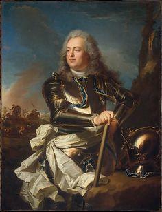 Hyacinthe Rigaud, Henri-Louis de la Tour d'Auvergne, Comte d'Évreux, Maréchal de France, c. 1710, New York, Metropolitan Museum of Art.