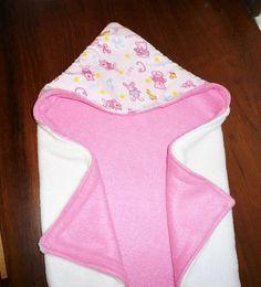 Reversible Hooded Baby Blanket (Free Sewing Pattern)