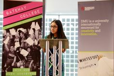 Student Harsharn Sandhu made an inspirational speech when De Montfort University Leicester and the city's Gateway College signed an innovative new partnership to help students prepare better than ever before to enter the world of work.