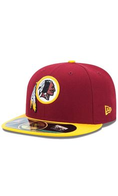 a1db16a50 NFL Men s Washington Redskins New Era Burgundy Gold On-Field Player Sideline  59FIFTY Fitted
