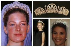 Princess Tatjana of Liechtenstein; tiara detail; Princess Angela of Liechtenstein; Hereditary Princess Sophie of Liechtenstein