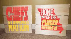Kansas City Chiefs-Football Rustic Wooden Sign by SMMyDesigns