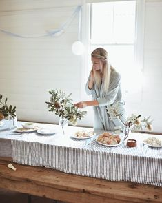 Party prep 🍃 - yoli_and_otis Scandinavian Tablecloths, Simple Baby Shower, Scandinavian Modern, Mid Century Style, Event Decor, Home Goods, Table Settings, Instagram, Table Decorations