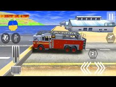 City Fire Rescue Heli Fire Water Dropping - 911 Rescue Fire Truck 3D Sim - Android Gameplay - YouTube