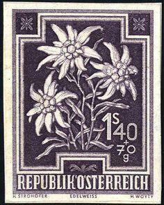 Austria 2nd. Republic 1948, Heimische flowers