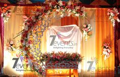 18 Lovely Decoration Ideas for Corporate events Wedding Mandap, Wedding Stage, Wedding Events, Ceremony Decorations, Birthday Decorations, Flower Decorations, Naming Ceremony Decoration, Ceremony Backdrop, Cradle Decoration