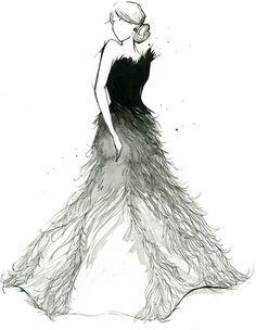 Looks like Katniss Everdeen and her mockingjay dress