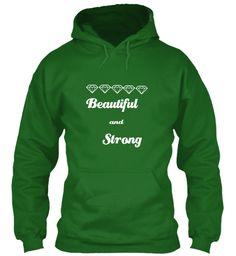 Beautiful And Strong Irish Green T-Shirt Front