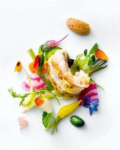 langoustine. how gorgeous?! vegetables ~ modernist cuisine ~ food styling.