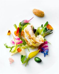langoustine. how gorgeous?! vegetables ~ modernist cuisine ~ food styling.