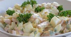 Asperges, ham en eieren bij elkaar in een zomerse salade. Smullen maar!