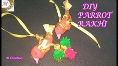 DIY Rakhi/Rajasthani Parrot rakhi making/lumba rakhi making Rakhi Making, Parrot, Diy And Crafts, Christmas Ornaments, Holiday Decor, How To Make, Parrot Bird, Christmas Jewelry, Christmas Decorations