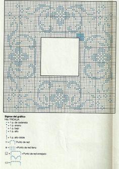 Crochet Stitches Chart, Crochet Doily Diagram, Crochet Edging Patterns, Filet Crochet Charts, Crochet Lace Edging, Crochet Fabric, Crochet Borders, Crochet Doilies, Cross Stitch Borders
