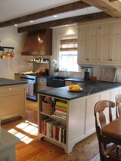 Kitchen in a new structure. Architecture and interior by Jeff Wilkinson. Hudson Valley, NY