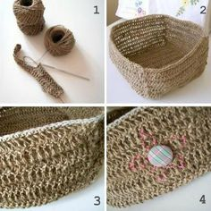 forty percent fringe : sixty percent face: a twine basket tutorial