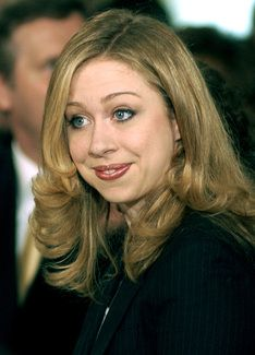 Chelsea Clinton. Cousins through both adopted and birth families.