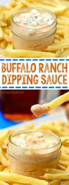 This Buffalo Ranch Dipping Sauce is perfect for fries . . . or anything! Absolutely irresistible and a must have for your BBQ's and Game Day Parties!