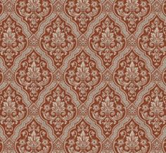 Lim & Handtryck Tapet - Rydeholm kvist/röd - 118-117-2