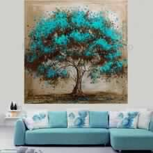 Turquoise tree abstract canvas painting ..from Google Images