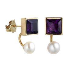 #Pendientes de #plata Pearl Earrings, Blue And White, Pearls, Lovers, Jewelry, Amethyst, Islands, Earrings, Silver
