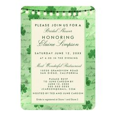 Shop Irish shamrocks and string lights invitation created by perfectwedding. Personalize it with photos & text or purchase as is! Zazzle Invitations, Wedding Invitations, Go Irish, Irish Wedding, Green Watercolor, Wind Power, Paper Texture, String Lights, Day Up