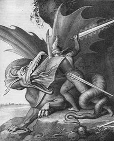 Siegfried kills the dragon.