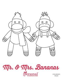 Keep Your Little Ones In The Christmas Spirit With These Printable Sock Monkey Coloring Pages