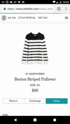 Love this striped sweater!