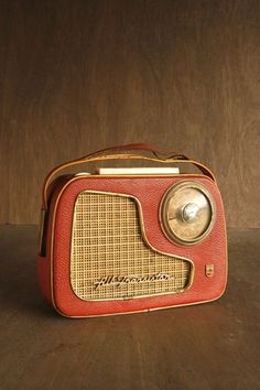 Vintage Red Transistor Radio | 1960s