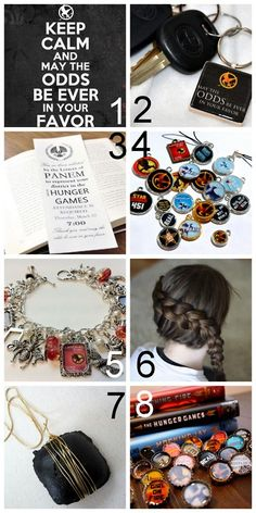 Eight DIY Hunger Game Crafts. From free printables to jewelry.