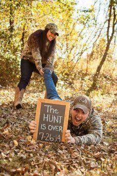 So cute, perfect save the date, photo for outdoorsy' wedding couples